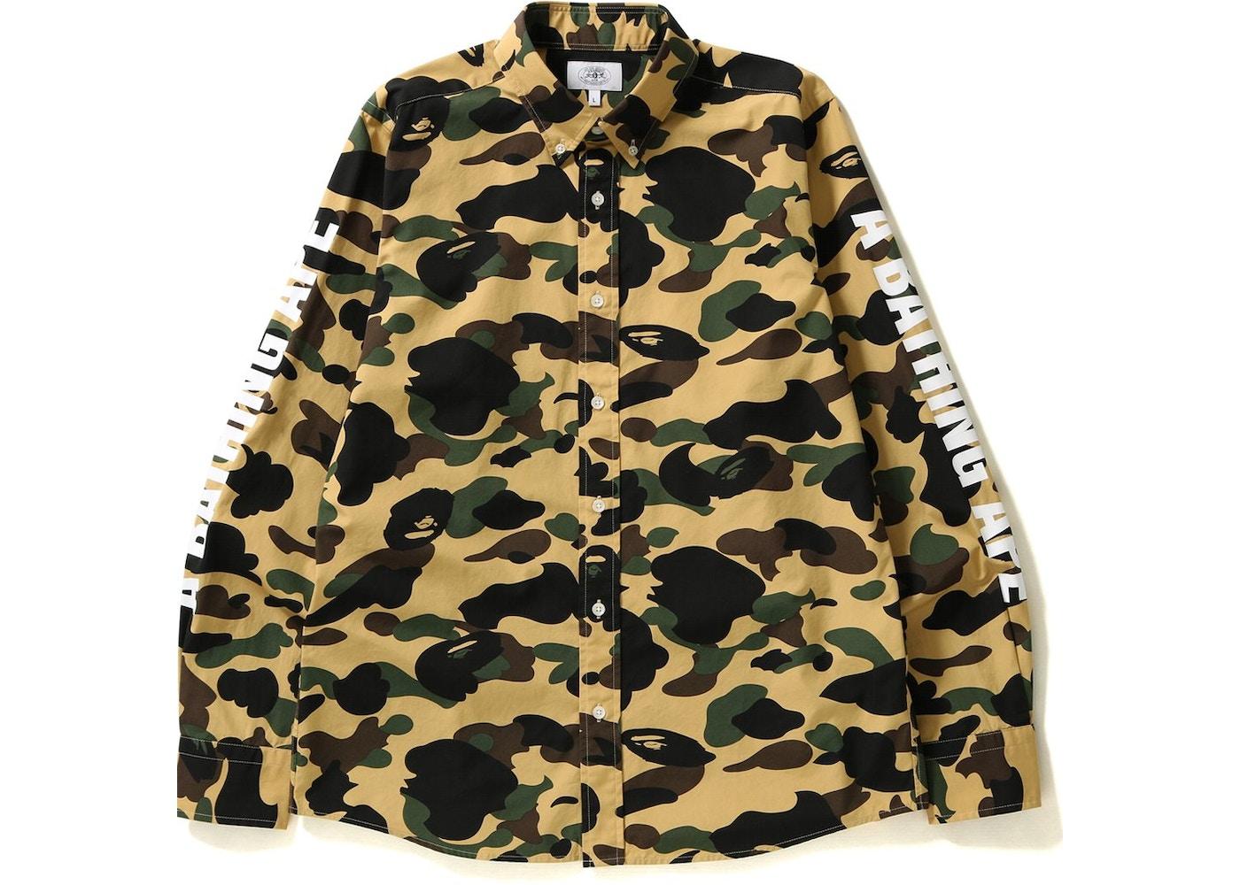 78d67389 BAPE 1st Camo Bd Shirt Shirt Yellow -