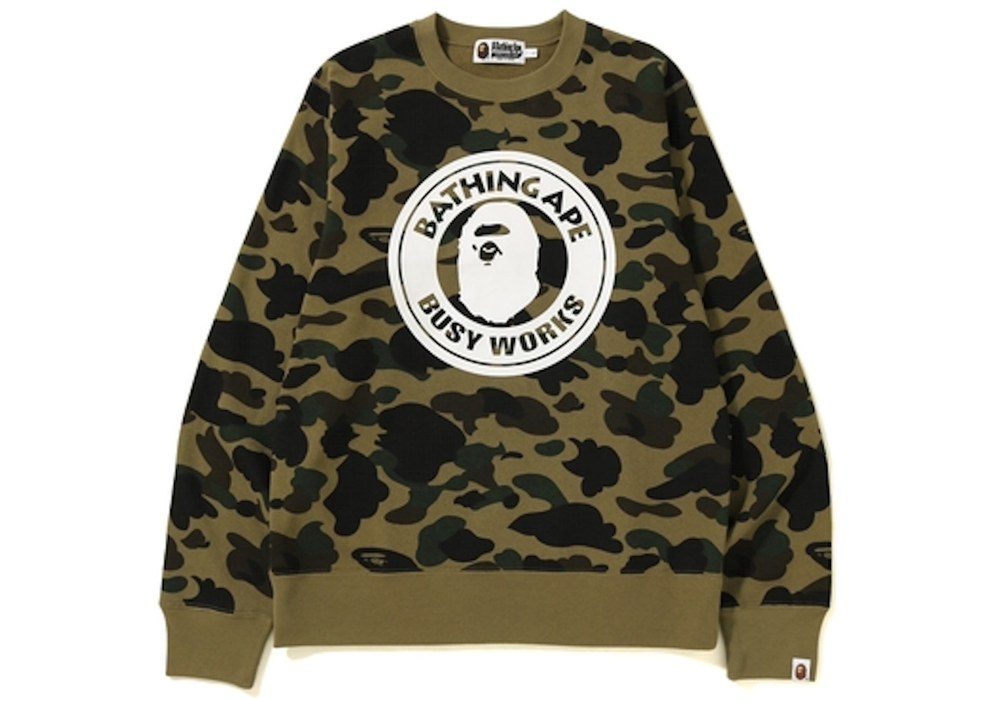 BAPE 1st Camo Busy Works Crewneck Green
