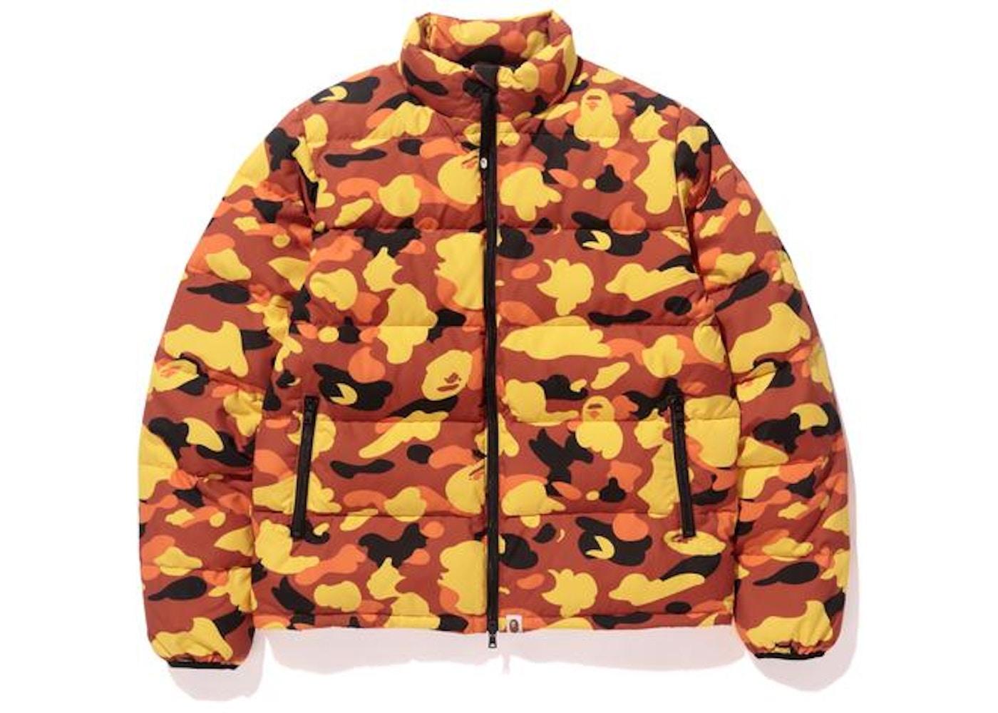 55f3b972 BAPE 1st Camo Down Jacket Jacket Orange -
