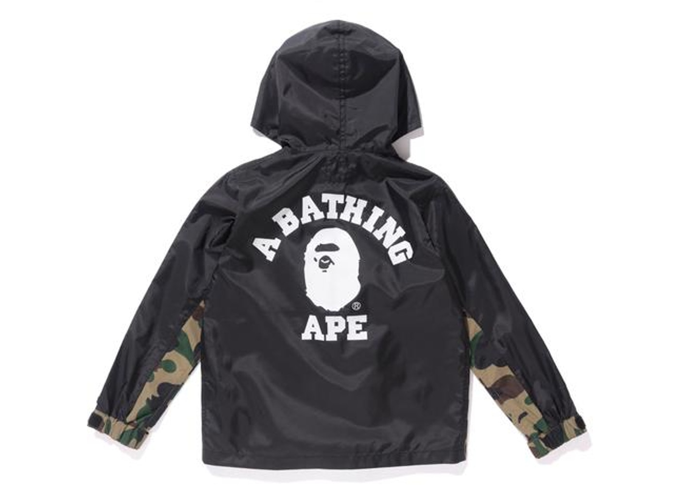 a89b509539a BAPE 1st Camo Hoodie Jacket K (90-140) (90-140) (Kids) Black/Green -