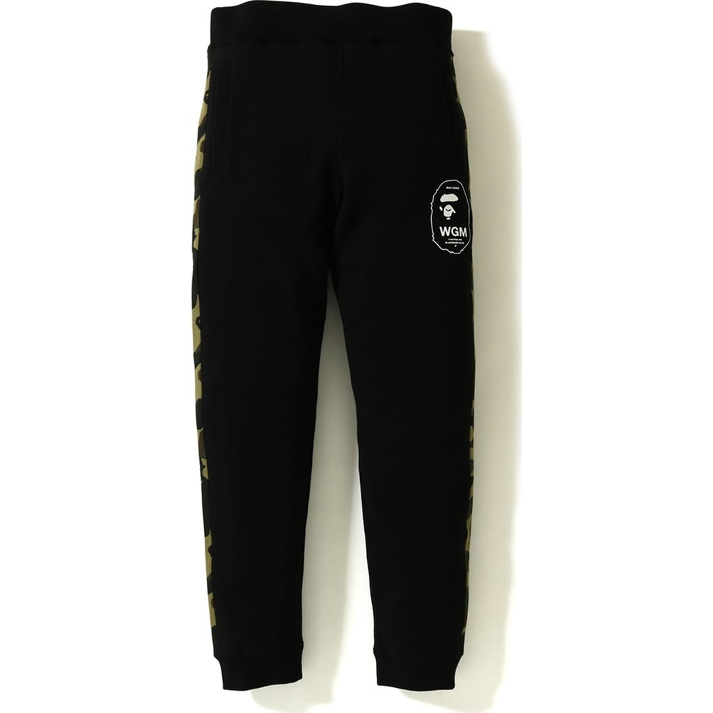 Bape 1st Camo Line Slim Sweat Pants Black/Green