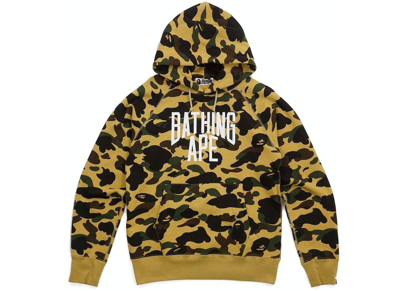 c3982cb83edb BAPE 1st Camo New York Logo Pullover Hoodie Yellow -
