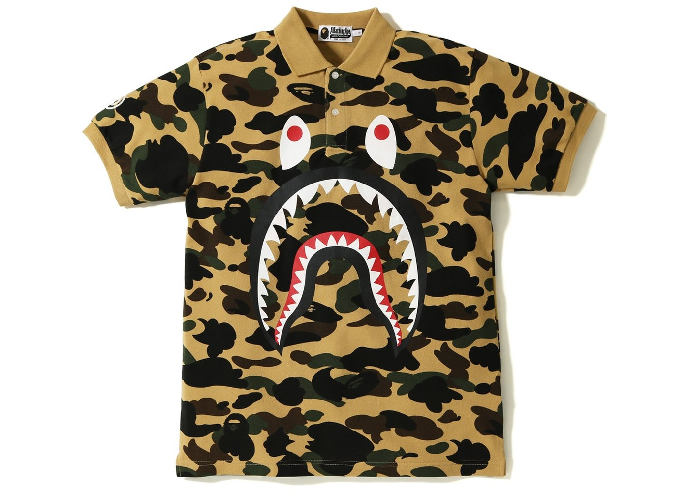 312f6c37 Sell. or Ask. Size --. View All Bids. BAPE 1st Camo Shark Face Polo Yellow