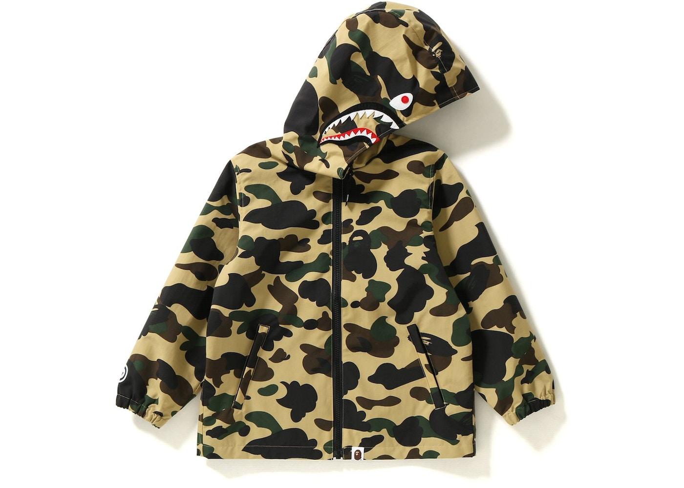 77323f14c55 BAPE 1st Camo Shark Hoodie Jacket Jacket (Kids) Yellow -