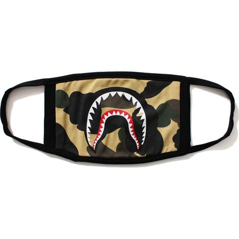 BAPE 1st Camo Shark Mask Yellow