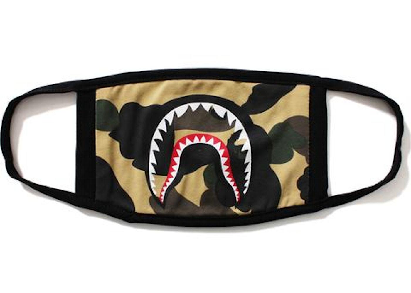 BAPE 1st Camo Shark Mask Yellow -