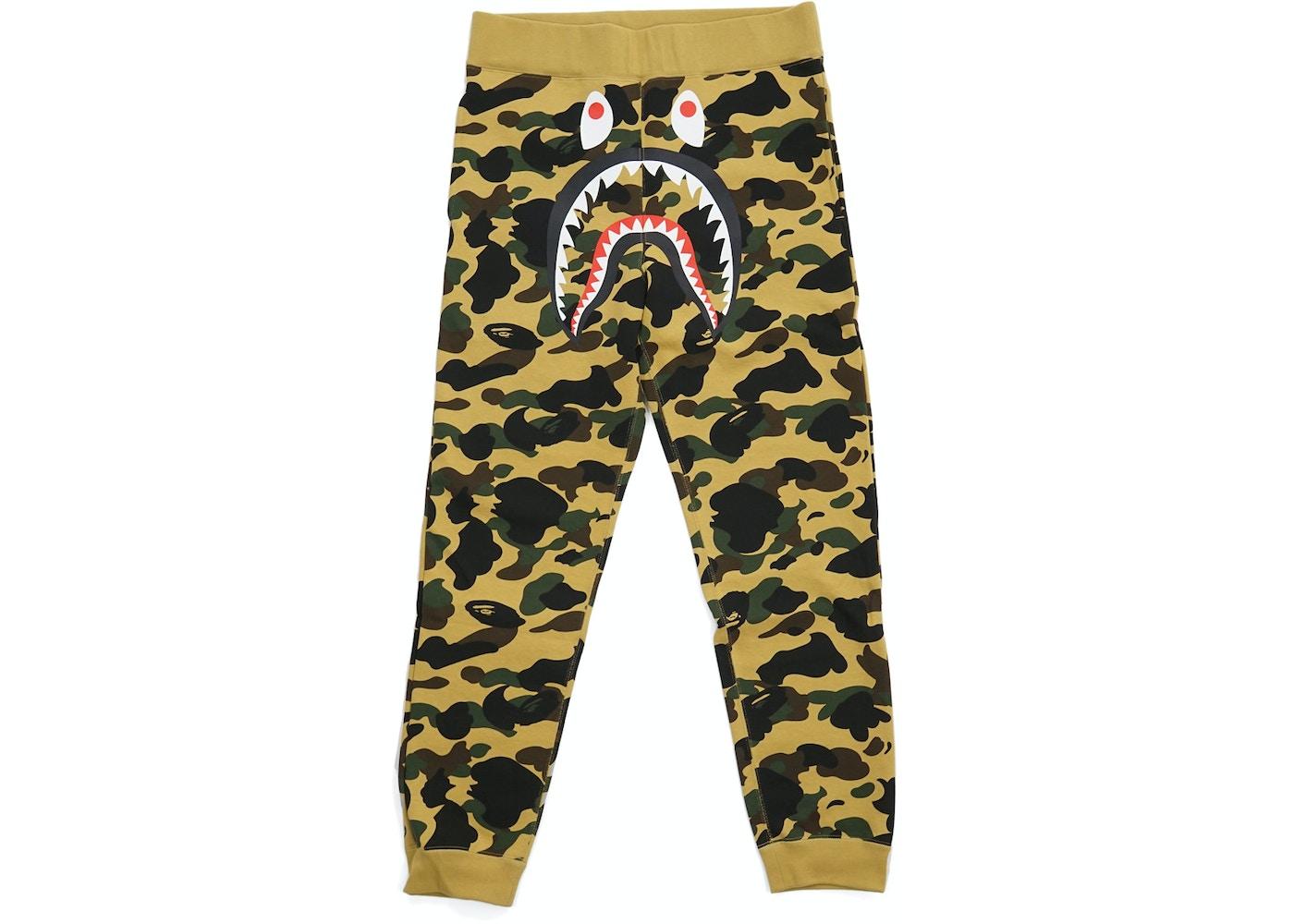 BAPE 1st Camo Shark Slim Sweatpants Yellow - b19a7827dcff