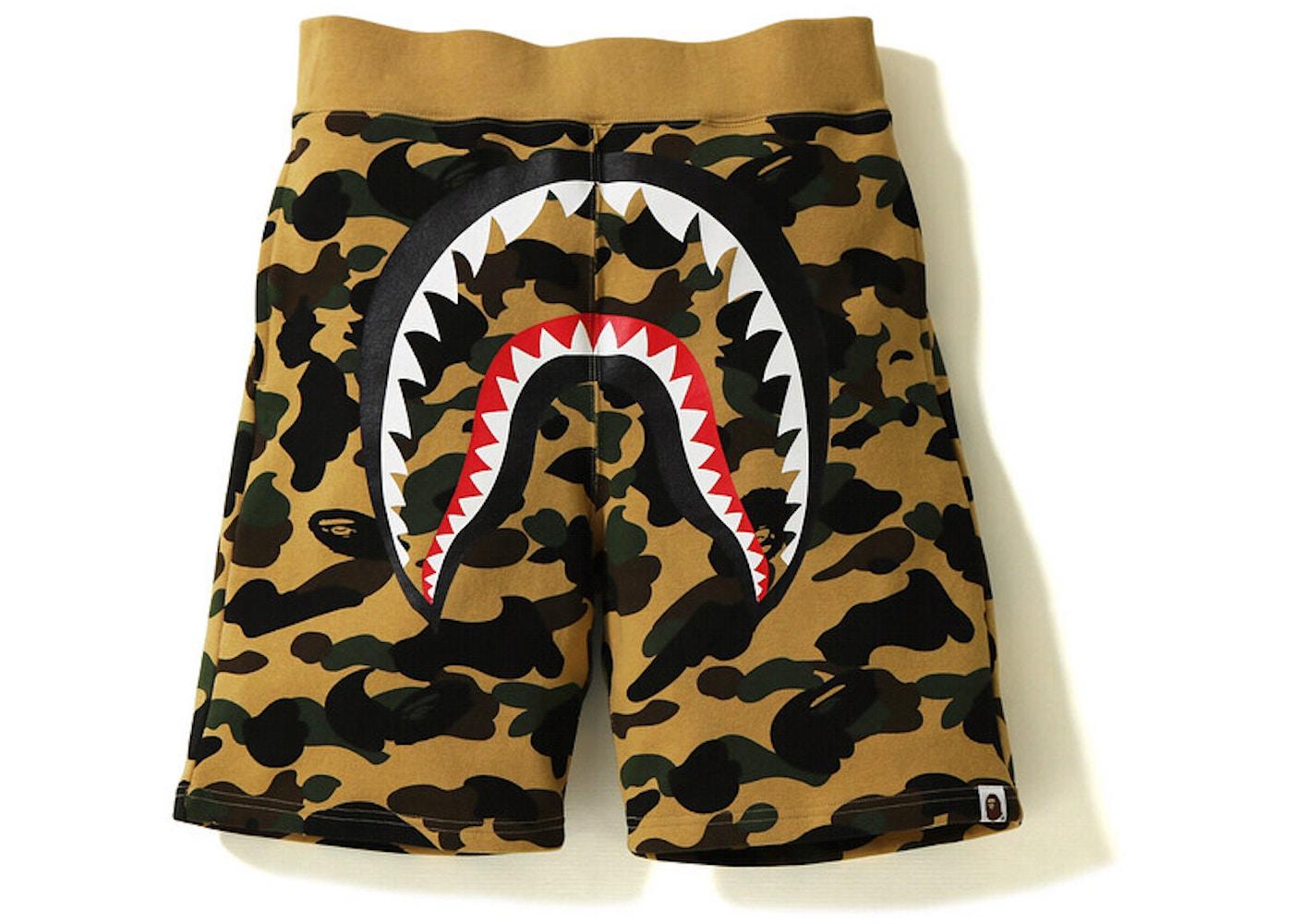 995f1e1c Sell. or Ask. Size L. View All Bids. BAPE 1st Camo Shark Sweat Short Yellow
