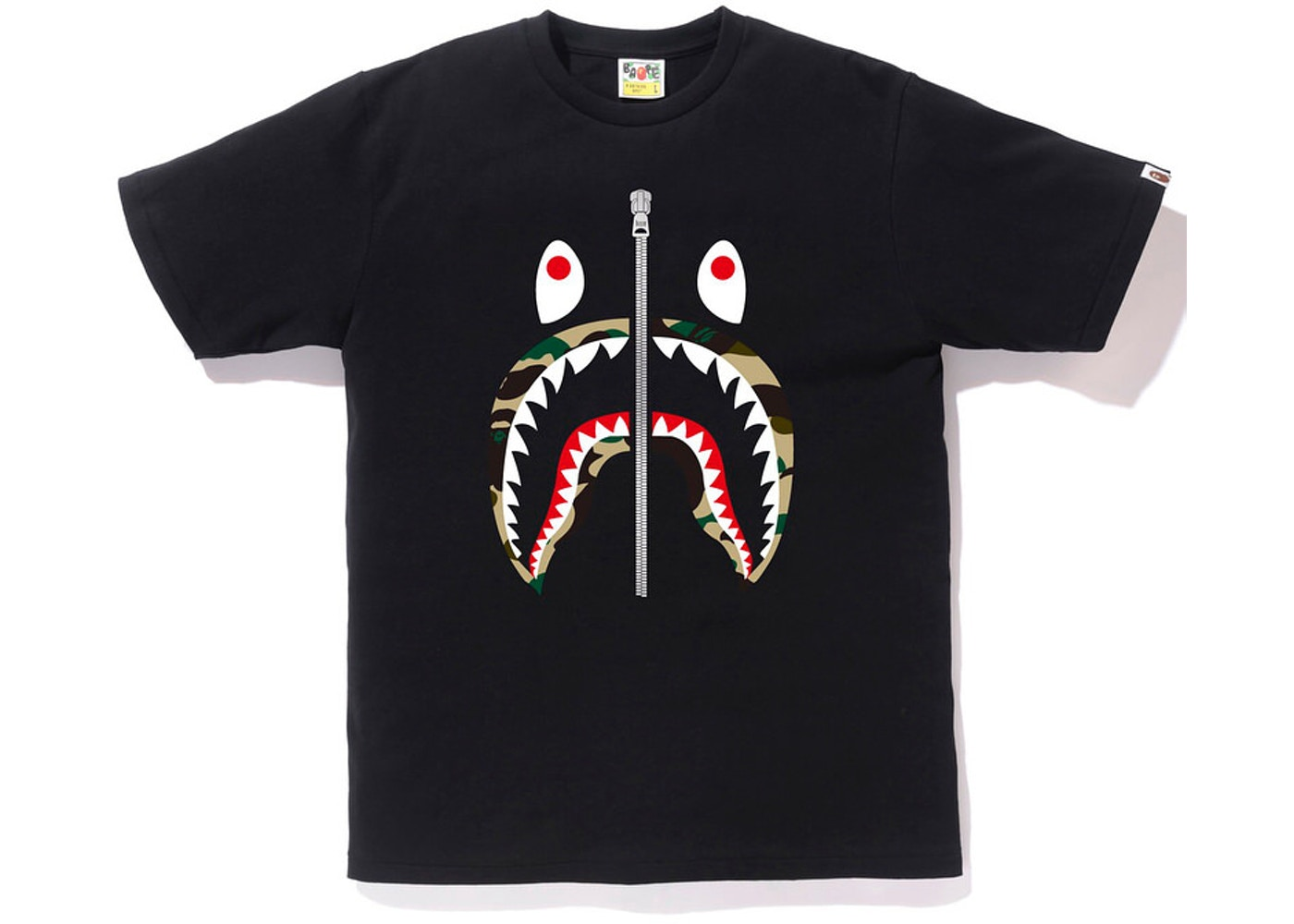 a503ed95 BAPE 1st Camo Shark Tee Tee Black/Yellow - SS18