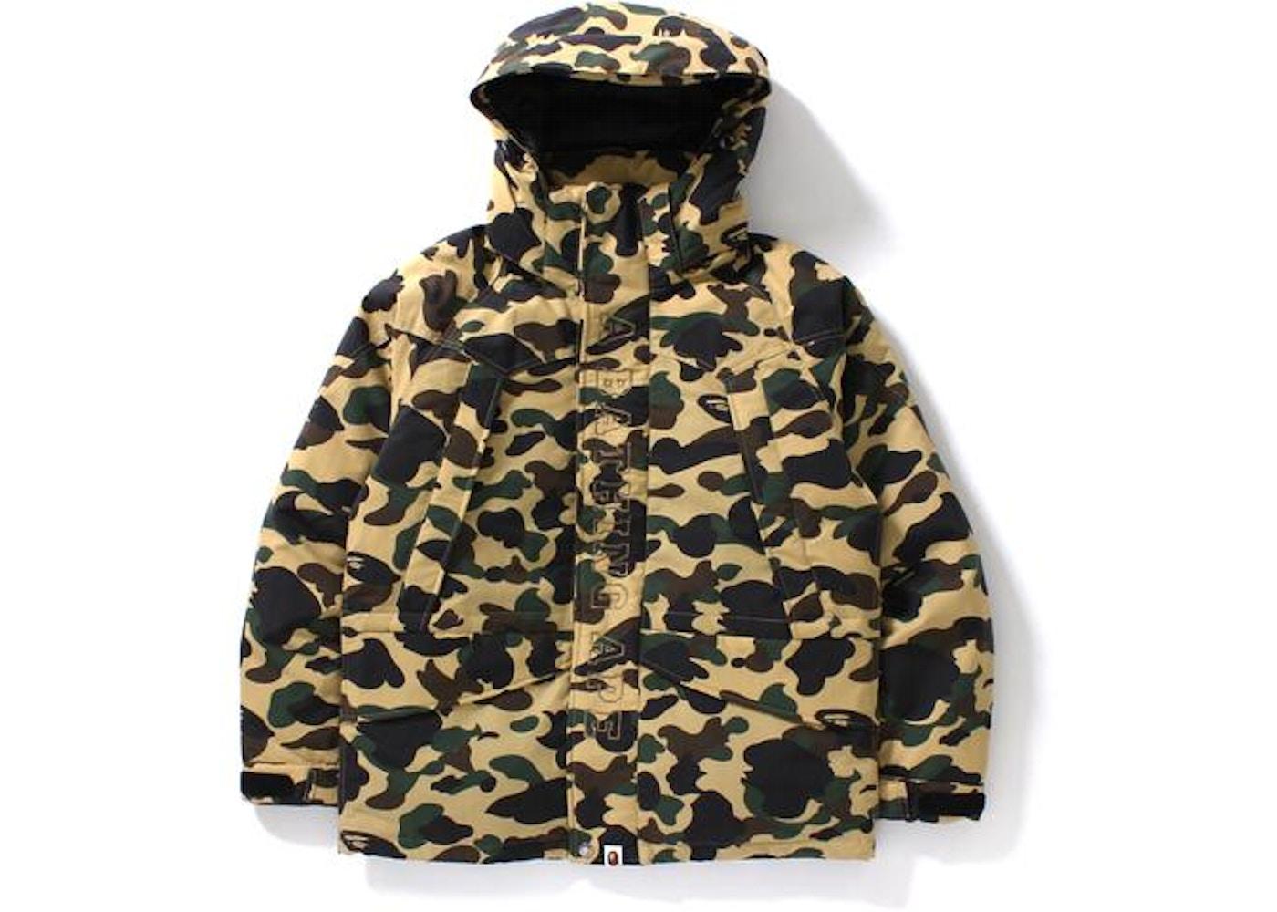 ac68ef89 BAPE 1st Camo Snow Board Down Jacket M Yellow -