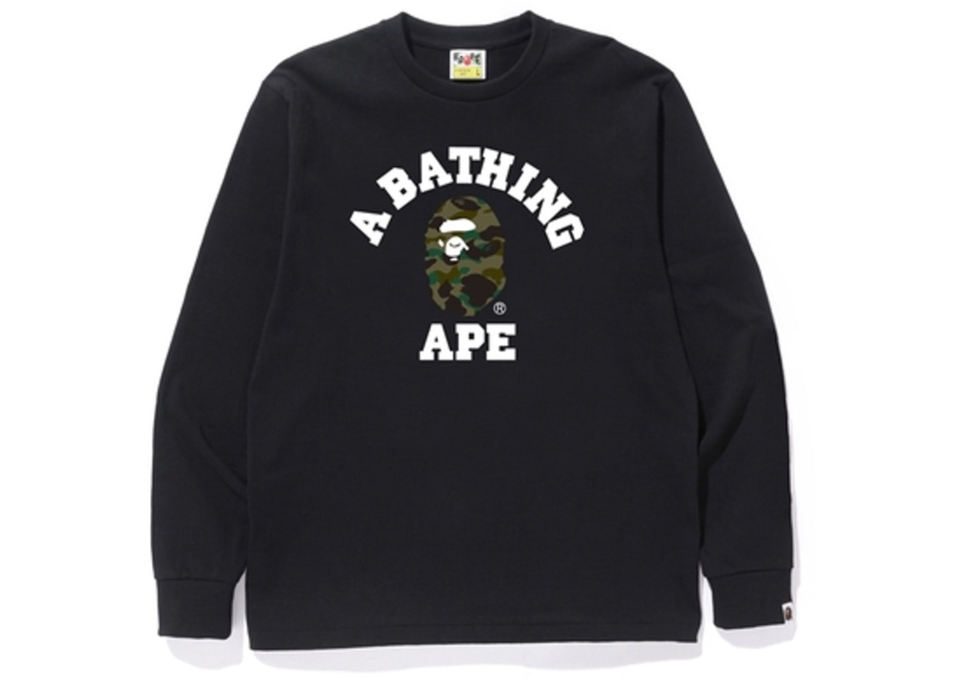 d9d0de89 Sell. or Ask. Size M. View All Bids. BAPE 1st Camo College L/S Tee ...