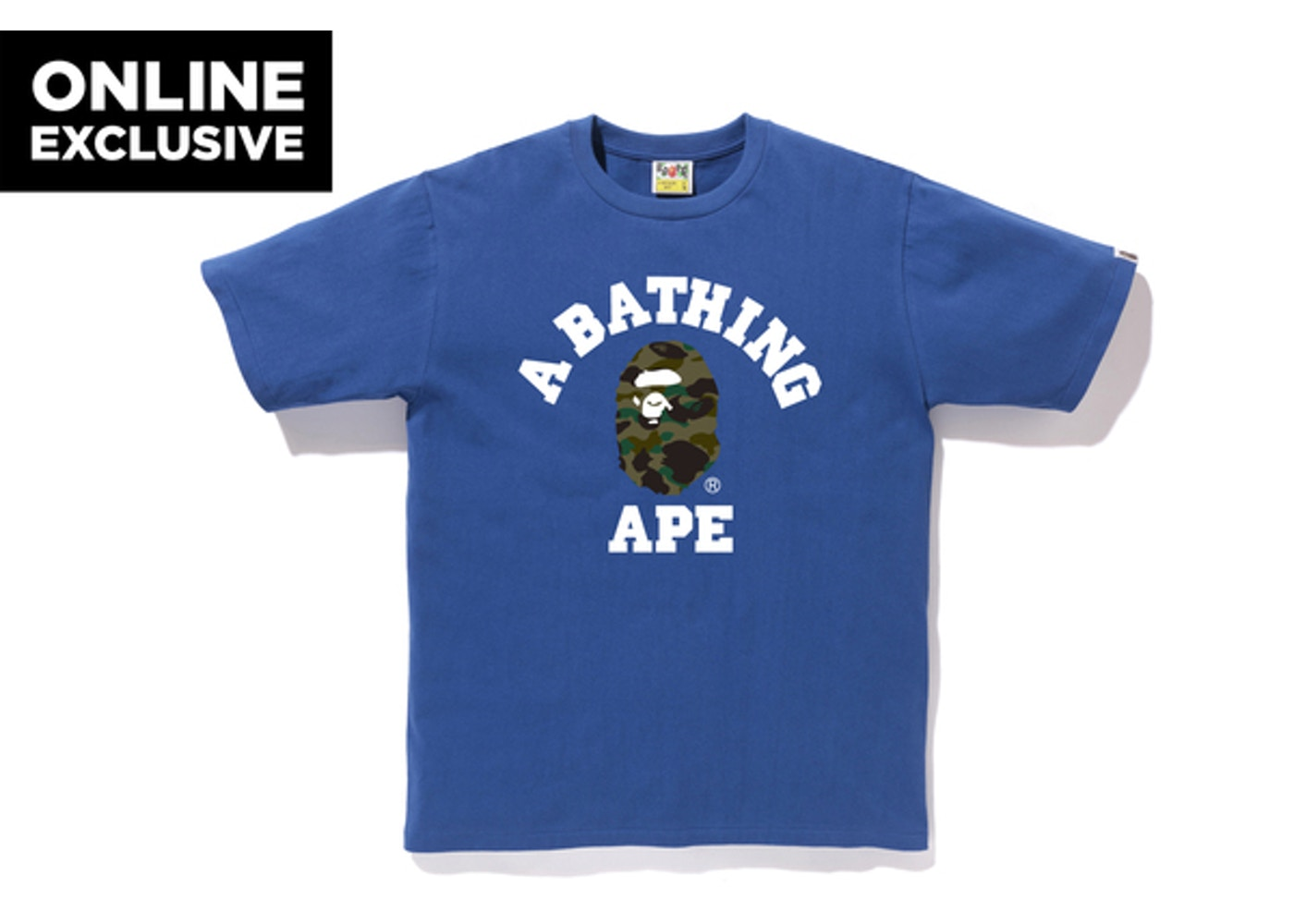 97fd3112 Sell. or Ask. Size --. View All Bids. BAPE 1st Camo College Tee Blue