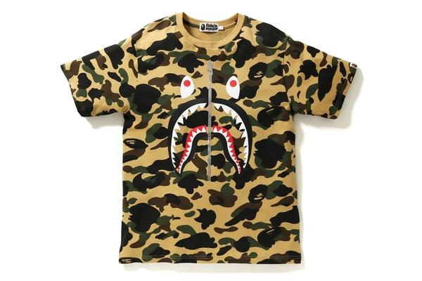 bape shark shirt camo