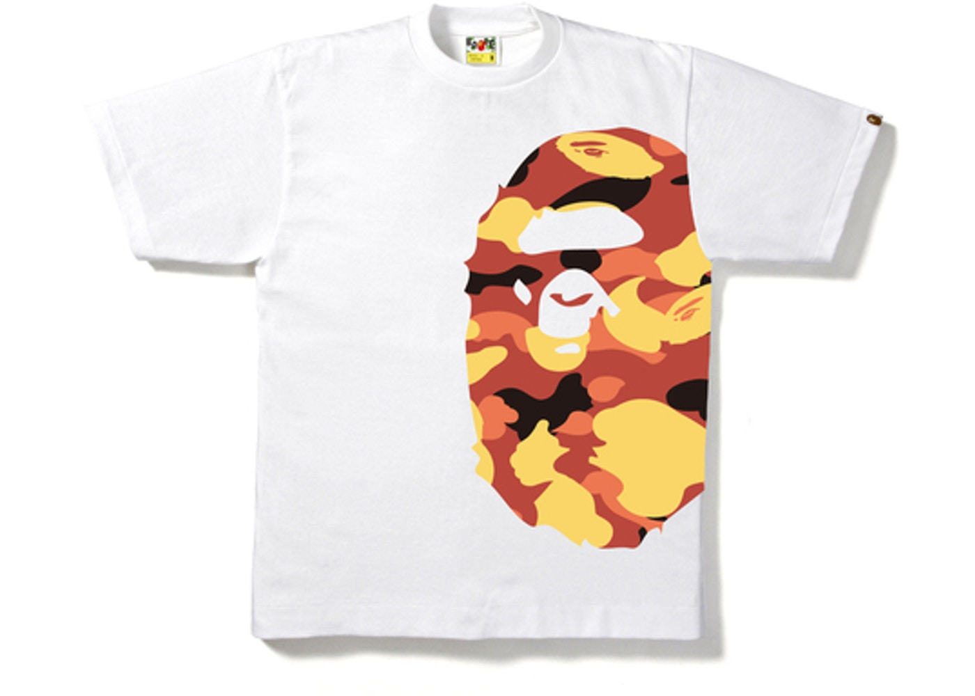 c8110c8f BAPE 1st Camo Side Big Ape Head Tee White/Red. 1st Camo Side Big Ape Head