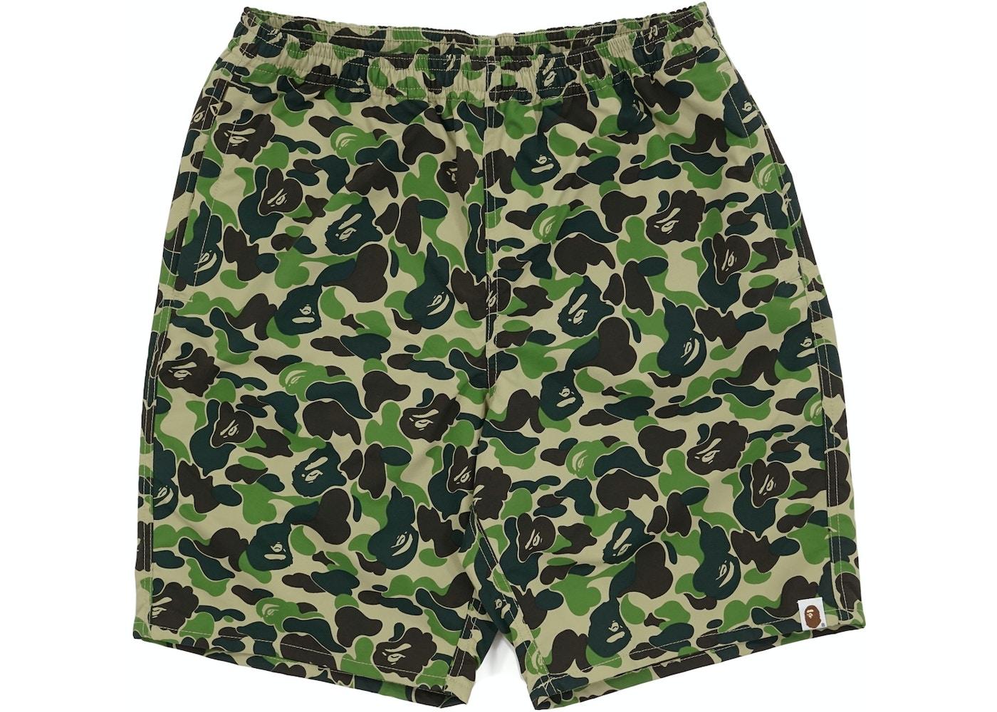 73e94ada8d BAPE ABC Camo Beach Shorts Green -
