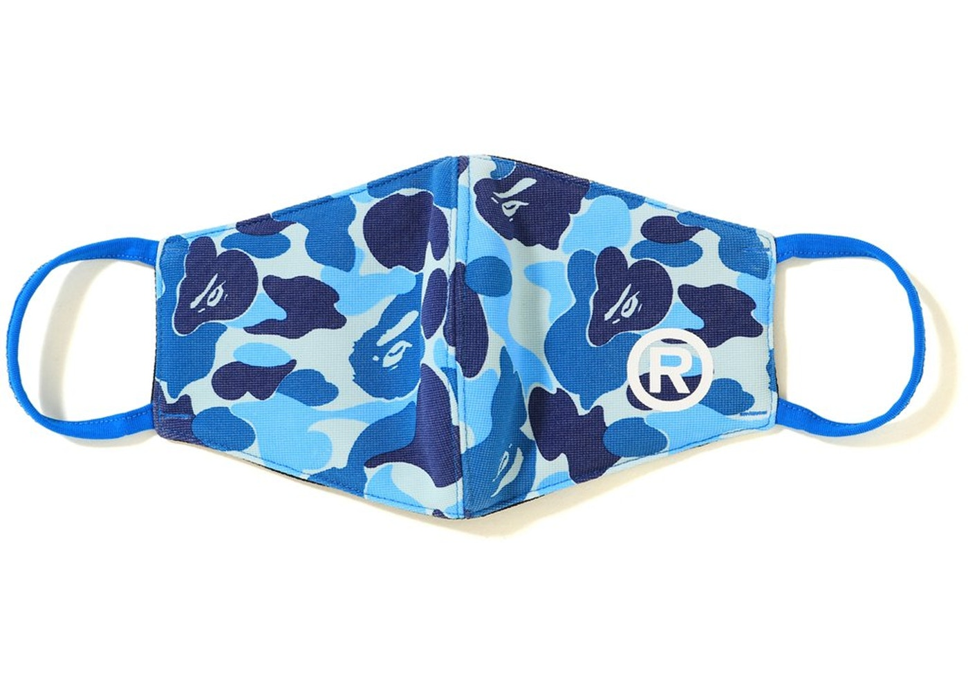 Bape Abc Camo Face Mask Blue Ss19