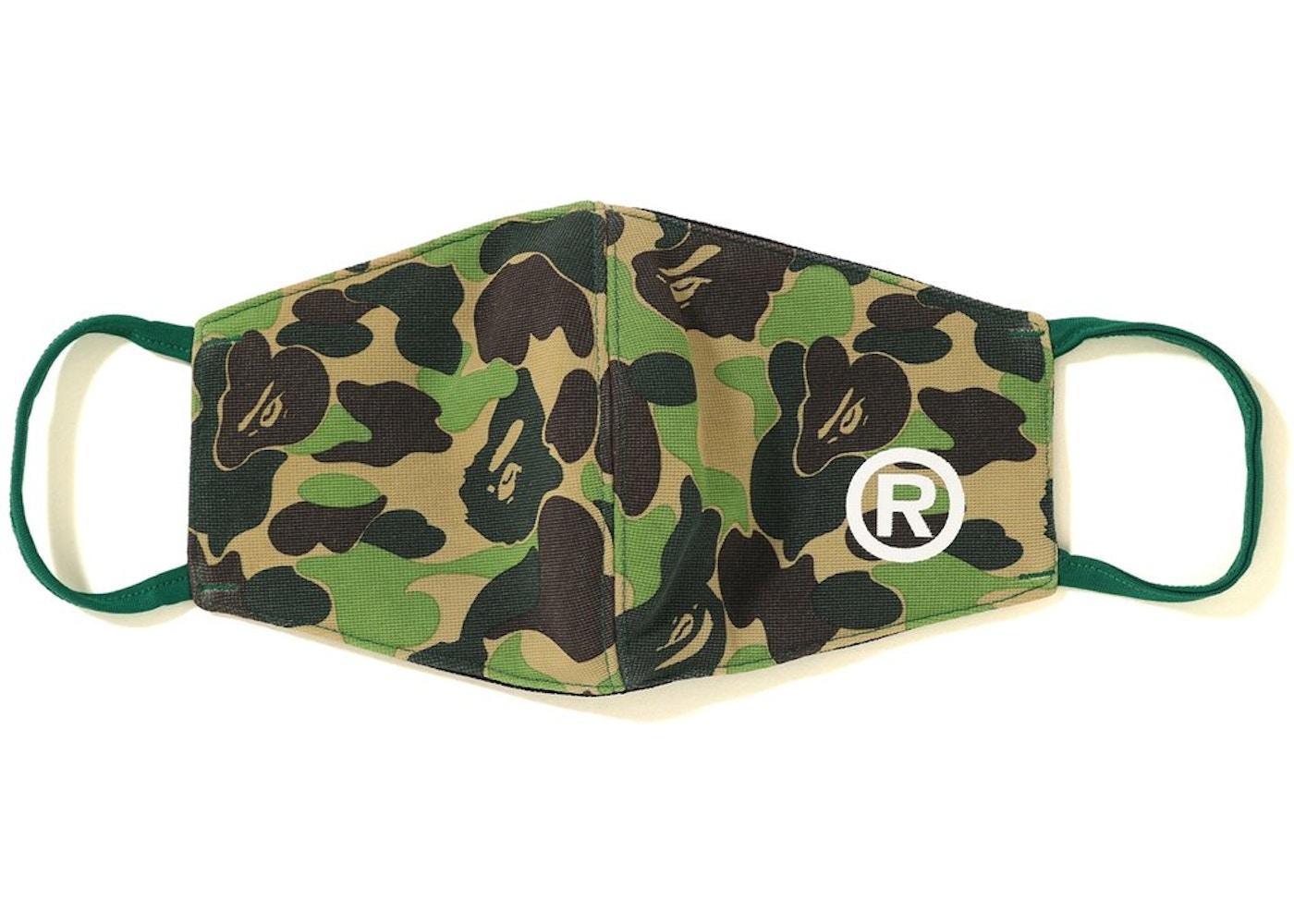 Bape Abc Camo Face Mask Green Ss19
