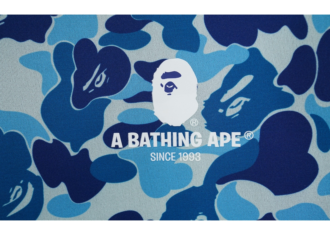 buy online f1d09 0dc43 BAPE ABC Camo Laptop Case Light Blue -