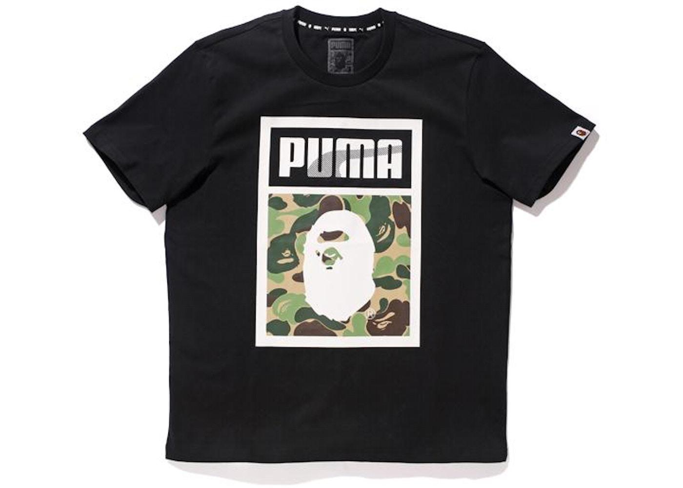 premium selection 71374 81bd3 BAPE X Puma ABC Camo Logo Tee Black - FW15