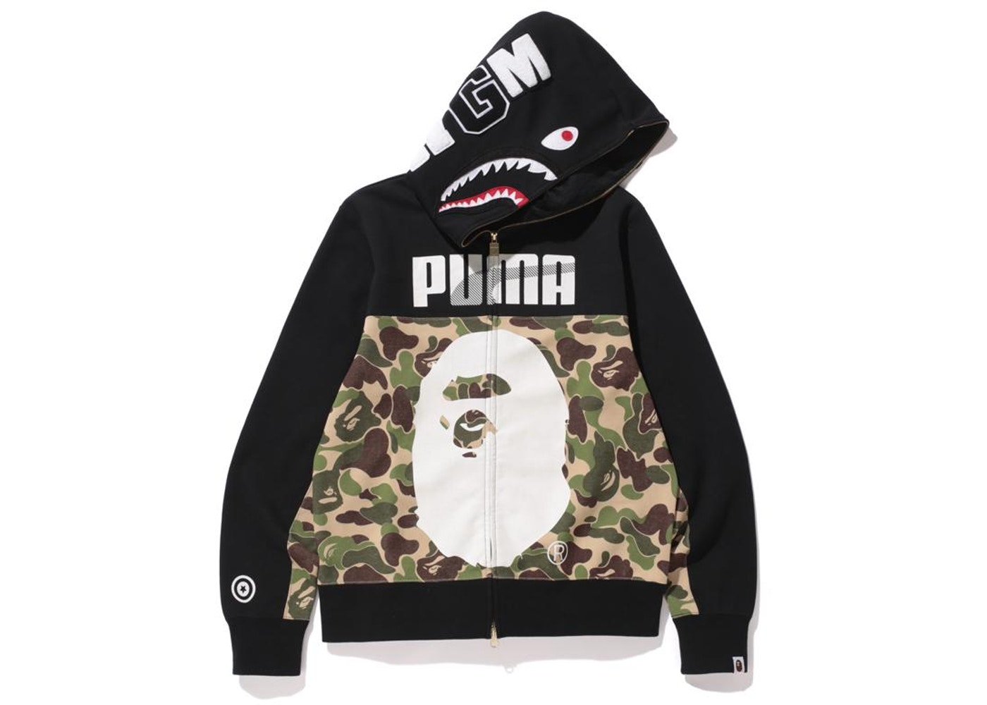 14daebcf BAPE X Puma ABC Camo Shark Hoodie Black/Green - FW15