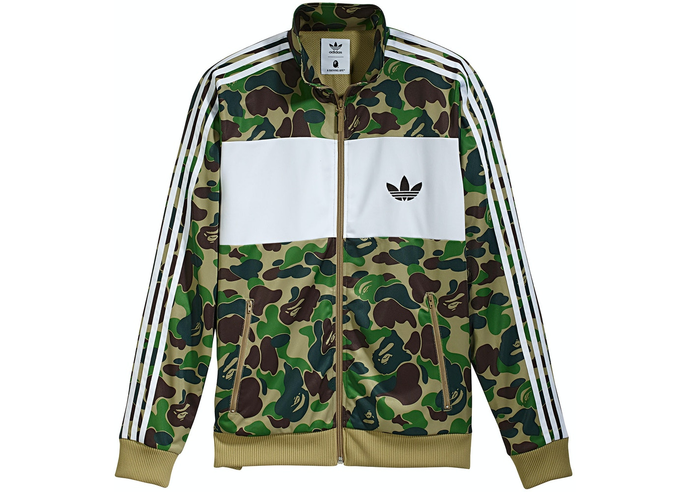 finest selection 845c8 86bc6 BAPE X adidas ABC Camo Track Jacket Green