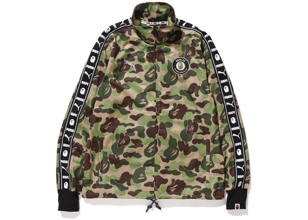 3439138056ee BAPE X Puma ABC Camo Training Jacket Green