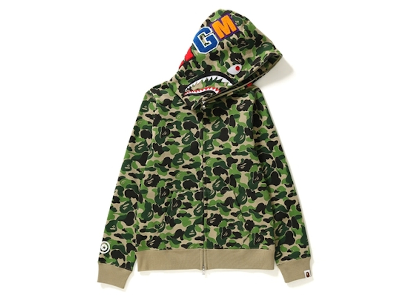 ba8d5ce4 BAPE ABC Camo Shark Full Zip Hoodie (Ladies) Green -