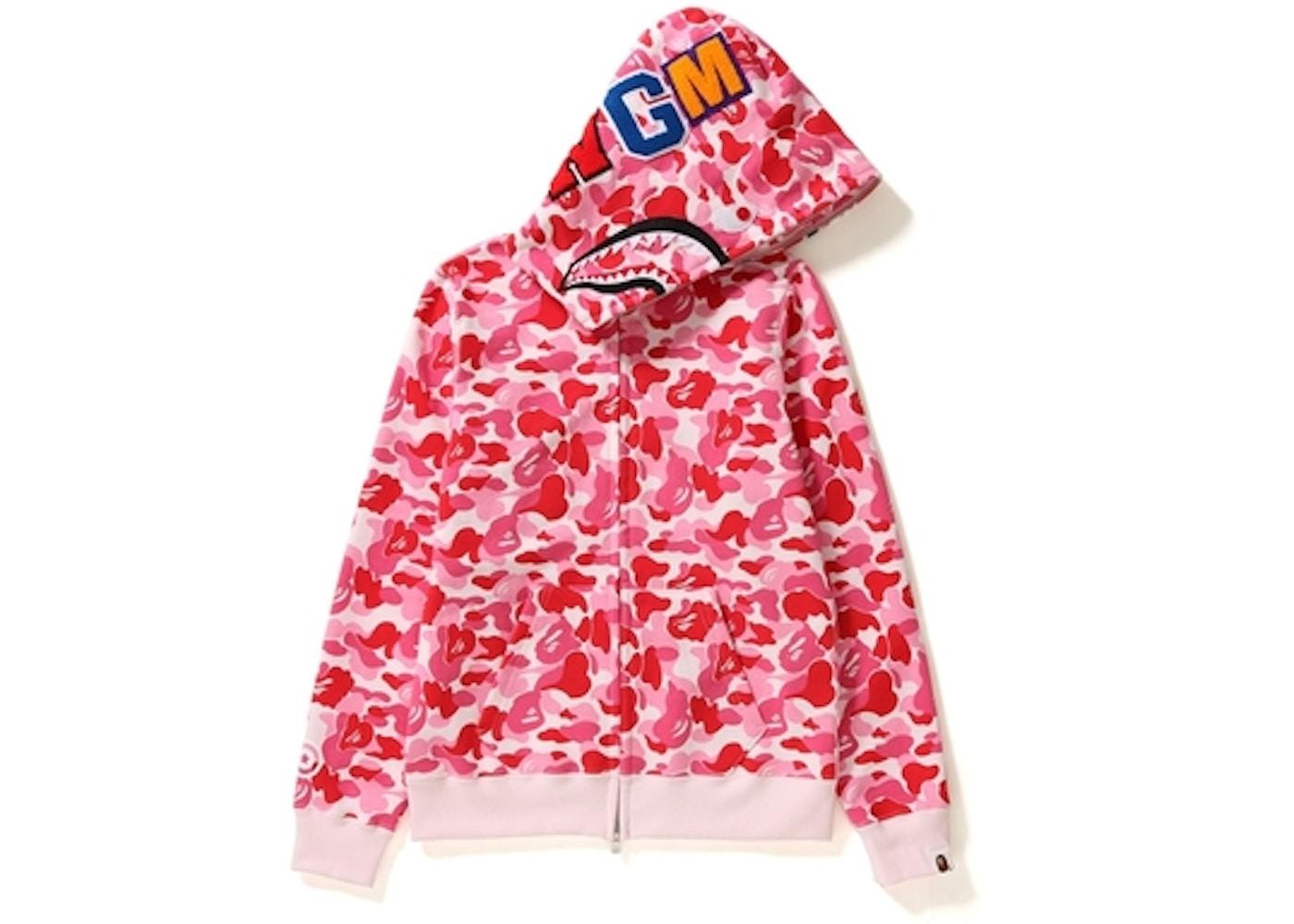 c33c2d4c BAPE ABC Camo Shark Full Zip Hoodie (Ladies) Pink -