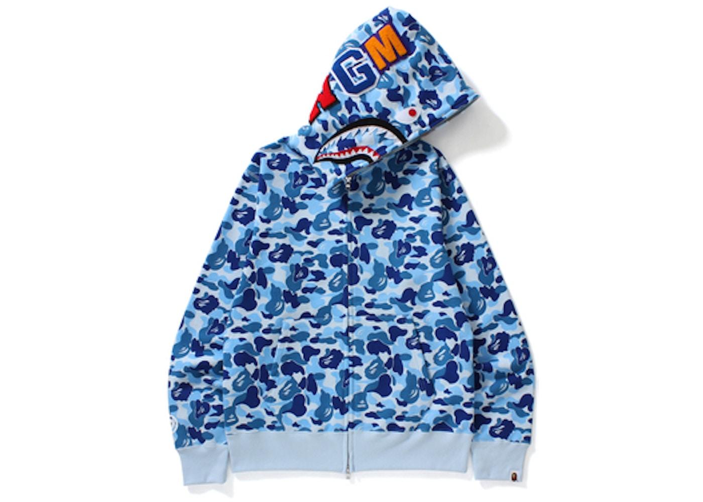 386c9b95 BAPE ABC Shark Full Zip Hoodie Blue. ABC Shark Full Zip