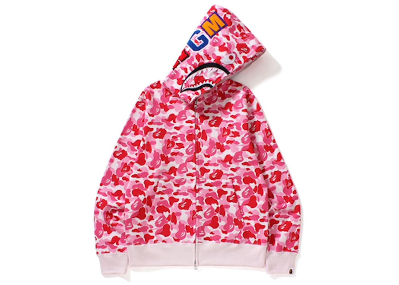 e34dfacf BAPE ABC Shark Full Zip Hoodie Pink -