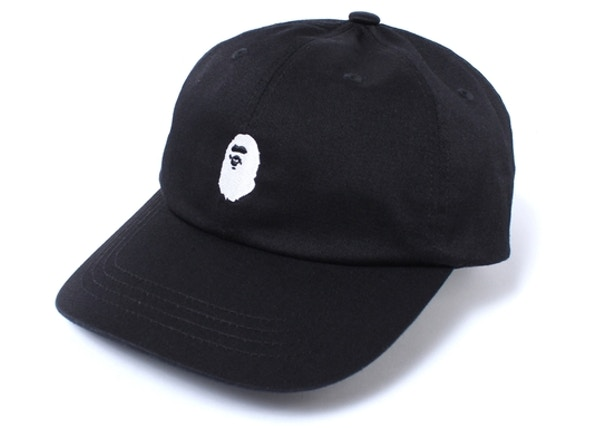 95e4db07 BAPE Ape Head Embroidery Panel Cap Black/White