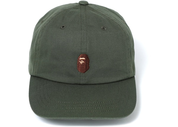 1ab9bebd BAPE Ape Head Embroidery Panel Cap Green