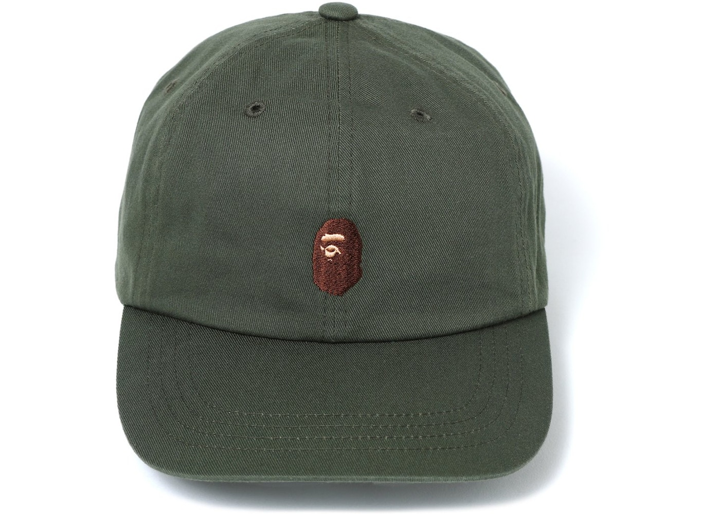 4c4761ba8bbe BAPE Ape Head Embroidery Panel Cap Green - SS18