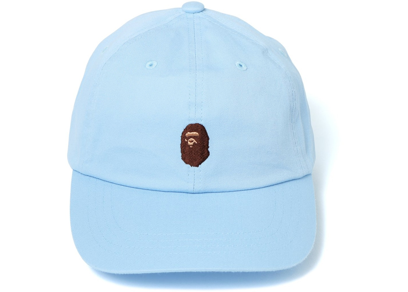 2d452d74 BAPE Ape Head Embroidery Panel Cap Light Blue. Ape Head Embroidery Panel