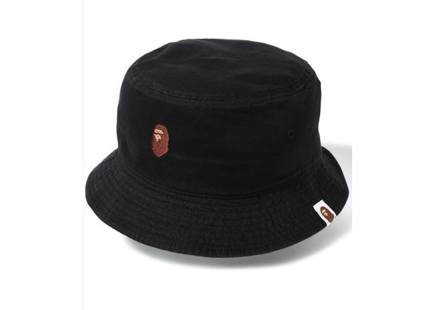 883ef3da77d BAPE Ape Head One Point Bucket Hat Hat Black -