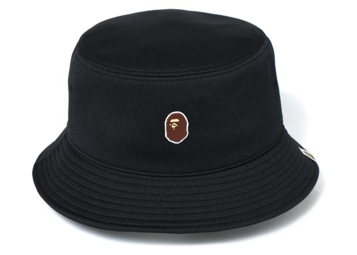 6391124b439 BAPE Ape Head One Point Bucket Hat Hat Black -