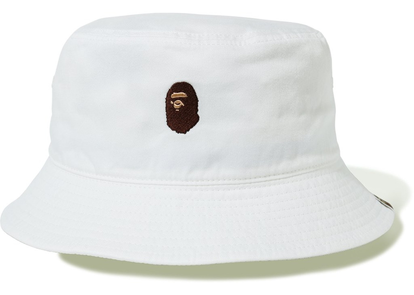 0d5c4b43084 BAPE Ape Head One Point Bucket Hat White -