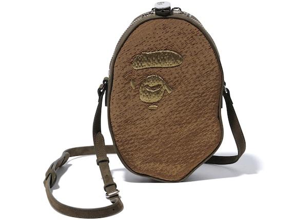 c547469794d TOP. BAPE X Readymade Apehead Shoulder Bag Olive