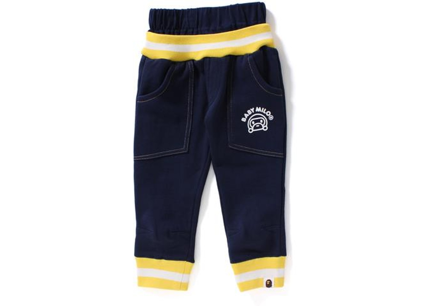 d1a6c77e BAPE Baby Milo Rib Sweat Pants Pants (Kids) Navy -