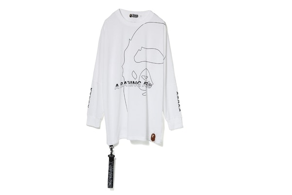 Bape Bape Long Sleeve Tee White