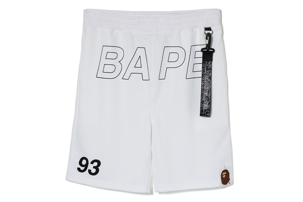 Bape Bape Sweat Shorts White
