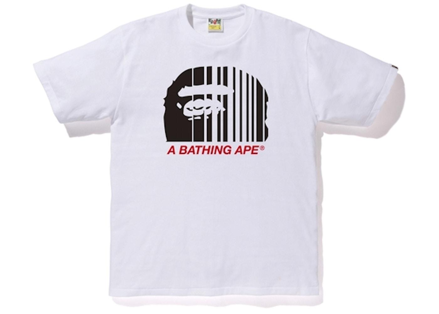 464dedd6 Bape Bape Vertical Line Tee White • Buy/Sell on StockX