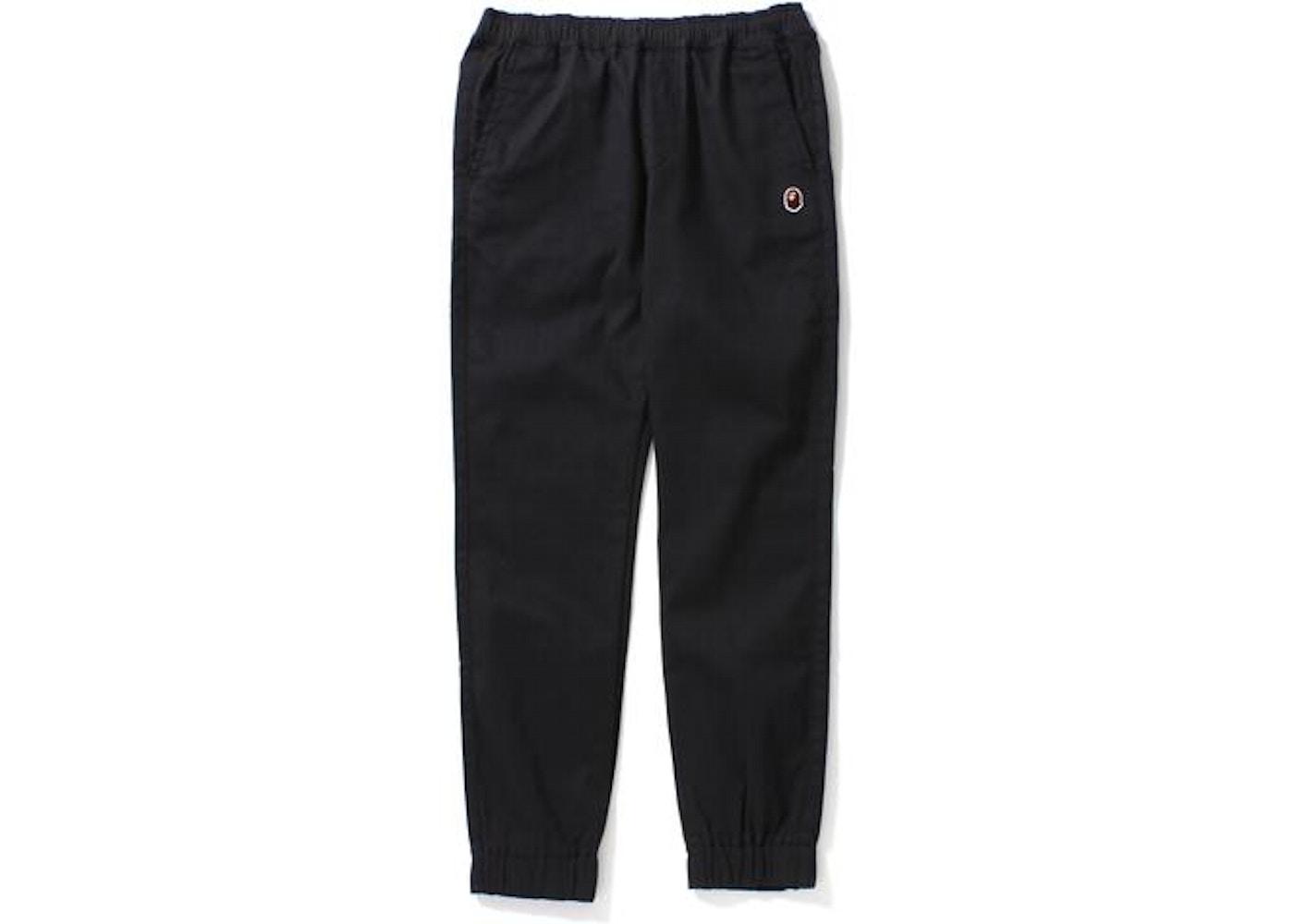 BAPE Bathing Ape Jogger Pants Pants (Ladies) Black - 013c77b35
