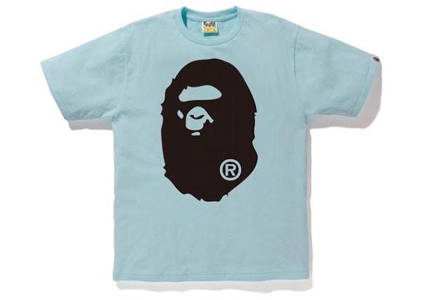 3fb80a5b5 BAPE Bicolor Big Ape Head Tee Sax/Black
