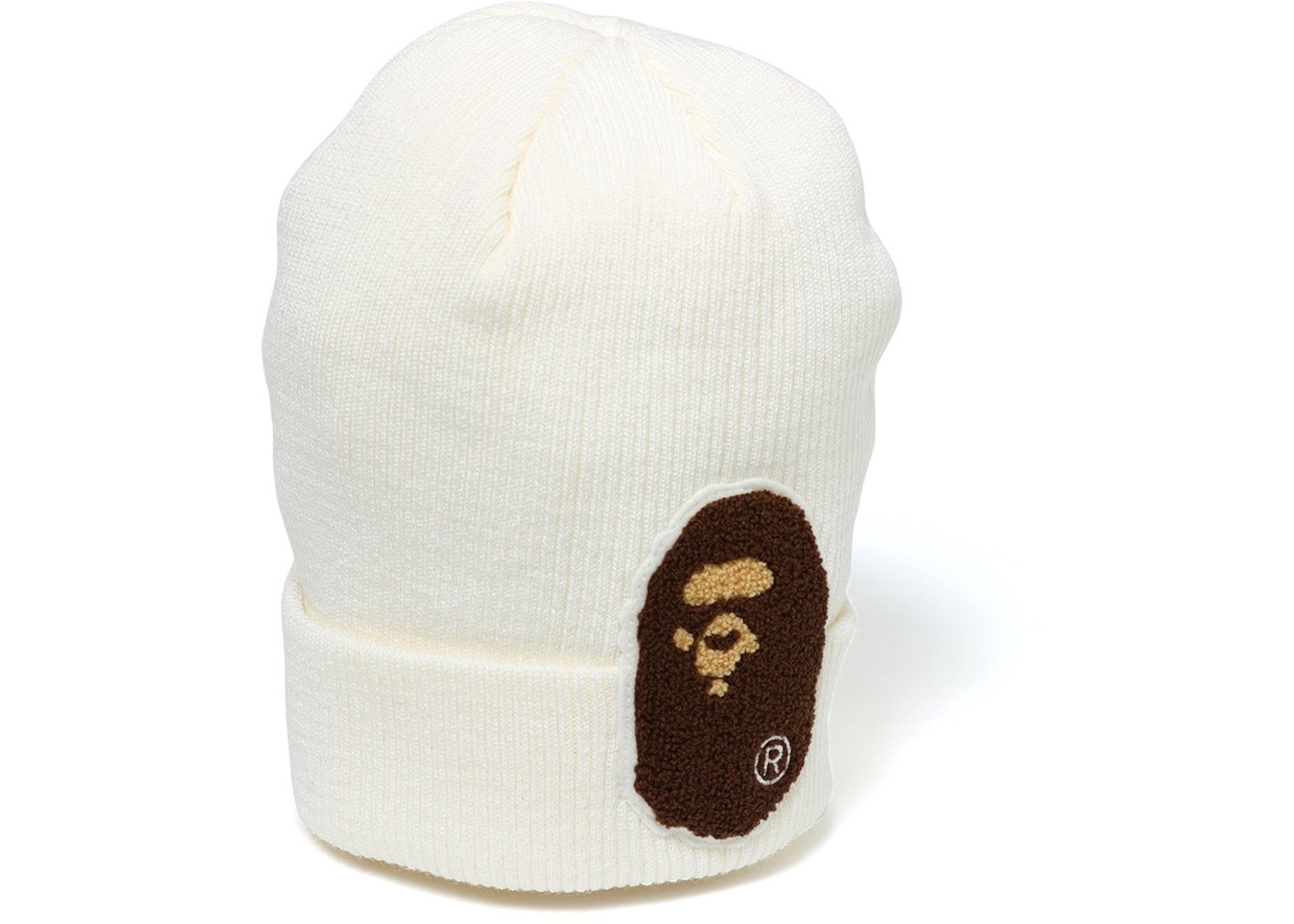 BAPE Big Ape Head Knit Cap White. Big Ape Head Knit 5987f91c042