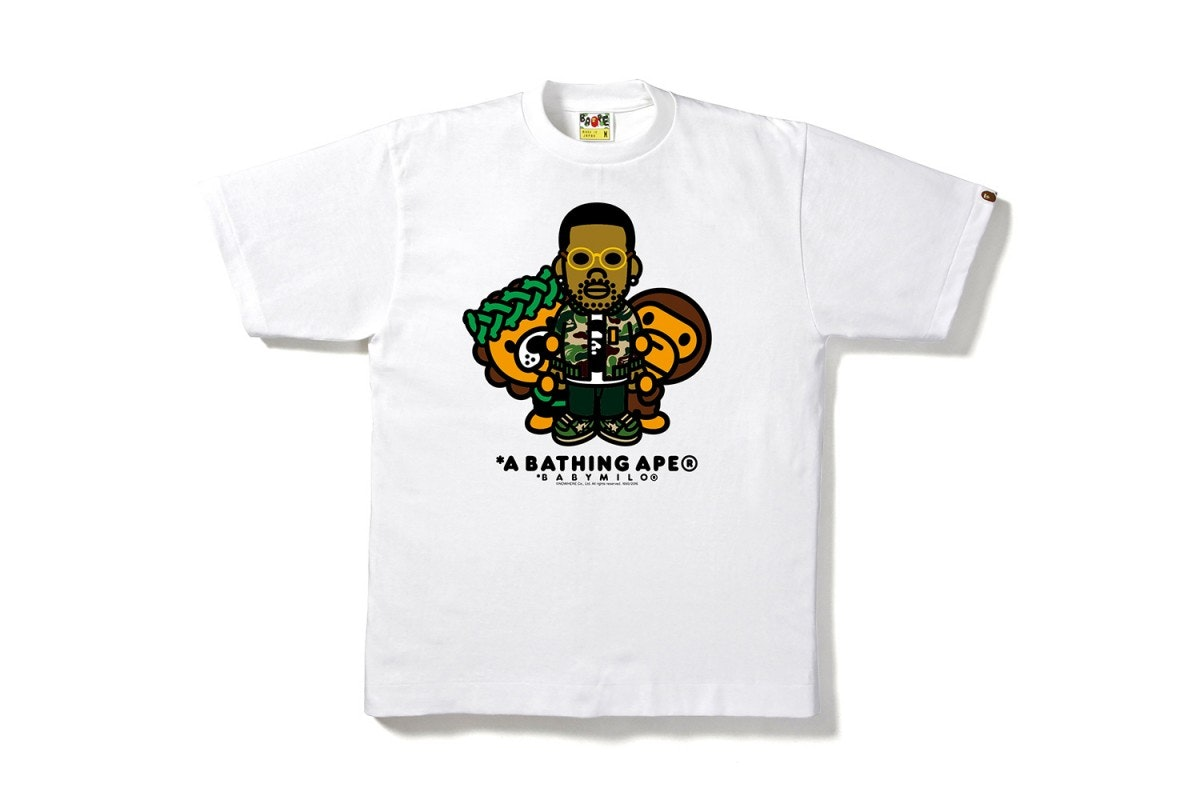 BAPE X ComplexCon Big Sean Milo ComplexCon Exclusive Tee White
