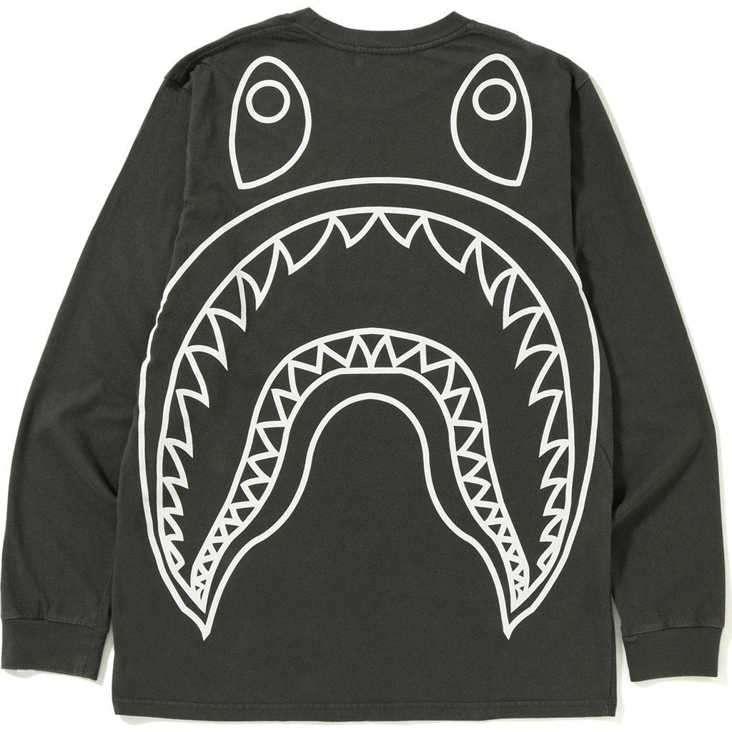 BAPE Big Shark Vintage L/S Tee Black