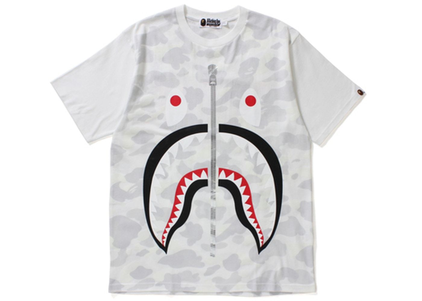 22e7f85d BAPE City Camo Big Shark Tee White -