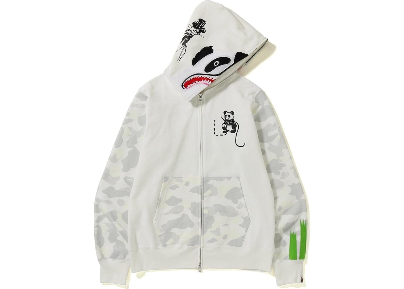 b87972e5b5ca BAPE City Camo Panda Full Zip Hoodie White. City Camo Panda Full Zip