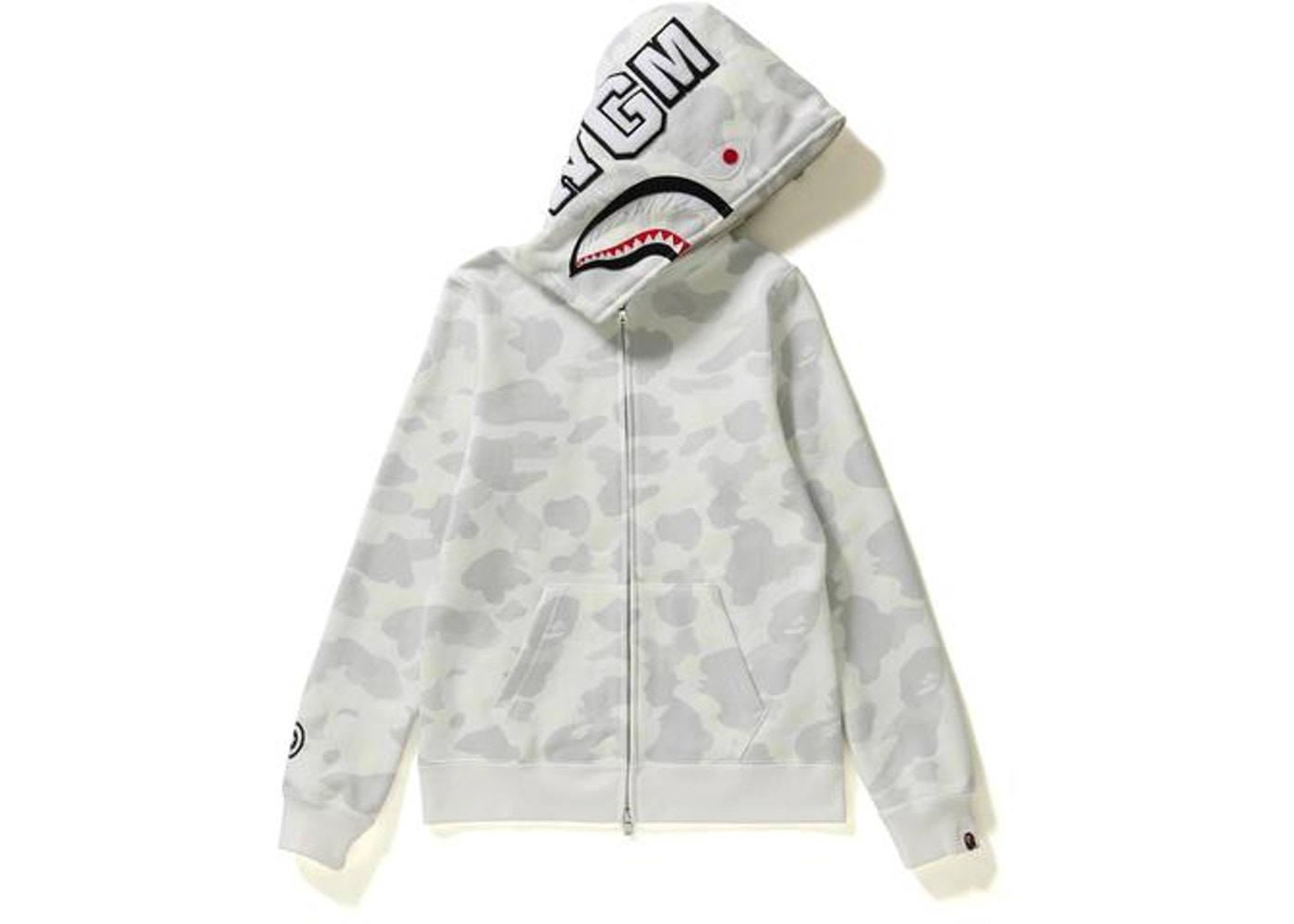 94bfd16a6ae5e BAPE City Camo Shark Full Zip Hoodie (Ladies) White -